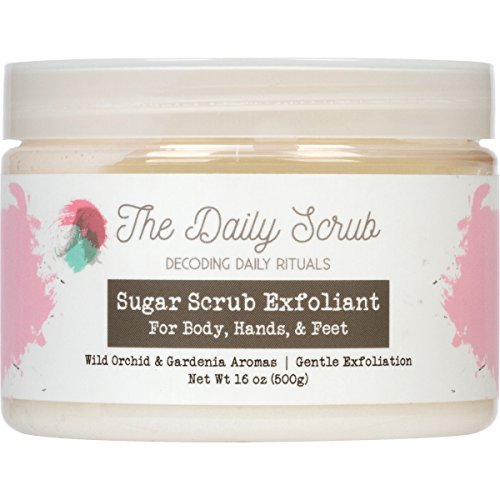 Sugar Body Scrub, Nourishing Exfoliating Polish 16oz -