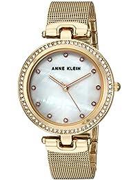 Women's AK/2972MPGB Swarovski Crystal Accented Gold-Tone Mesh Bracelet Watch