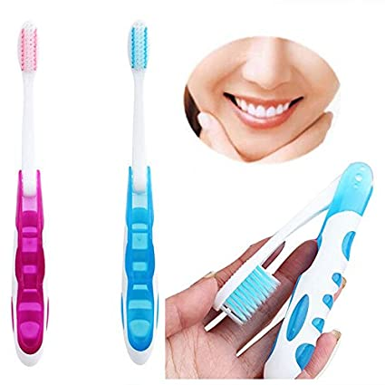 mazimark -- 2pcs/set portátil plegable Cepillo de dientes de viaje Camping Senderismo limpieza