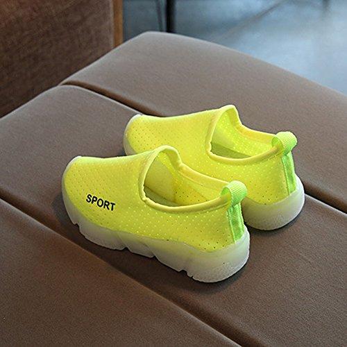 Suave Muchachos Cabrito Resbalón Del en Flash Ligeros Zapatos Verde Muchachos Antideslizante De Los niños tUWvUpHwq