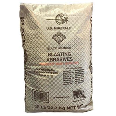 U S Minerals 07TSMBB5 50LB Medium Blast Abrasive - Quantity 1