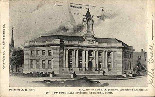 New Town Hall Building Stamford, Connecticut Original Vintage Postcard