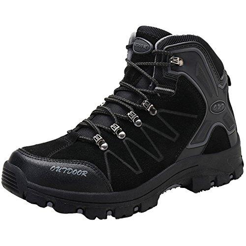 Men's Mid Trekking Hiking Boots Outdoor Lightweight (Lightweight Hiker Boots)