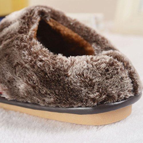 Cotone Inverno 3 Casual E Donna La Termica Pelle Slip Mhgao Da Suola In Casa Autunno Pantofole Con xgF4n1q