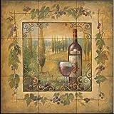 Ceramic Tile Mural - Villa Sole - by Elaine Vollherbst-Lane - Kitchen backsplash/Bathroom shower