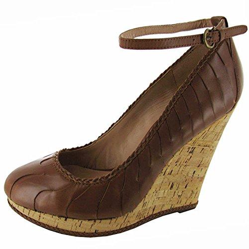Charles David Womens Tinge Wedge Shoe Cinnamon Leather