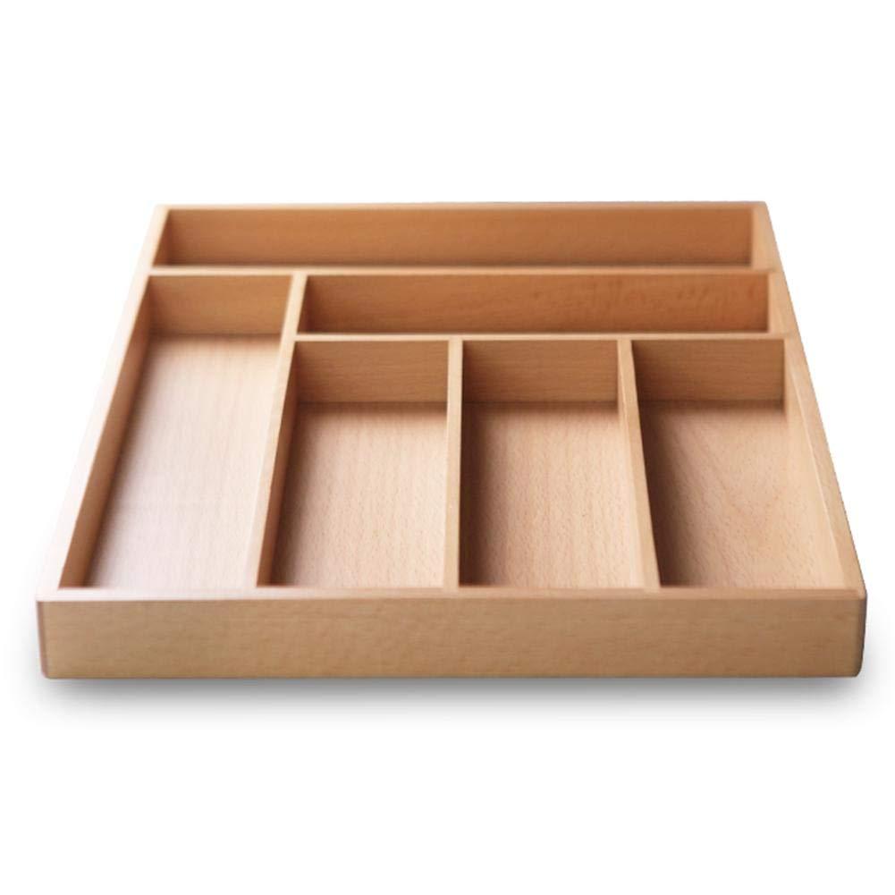 Küche Besteckkasten aus Bambus variabel ausziehbar Schubladeneinsatz ...