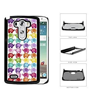 Colorful Mini Baby Elephant Pattern Hard Plastic Snap On Cell Phone Case LG G3