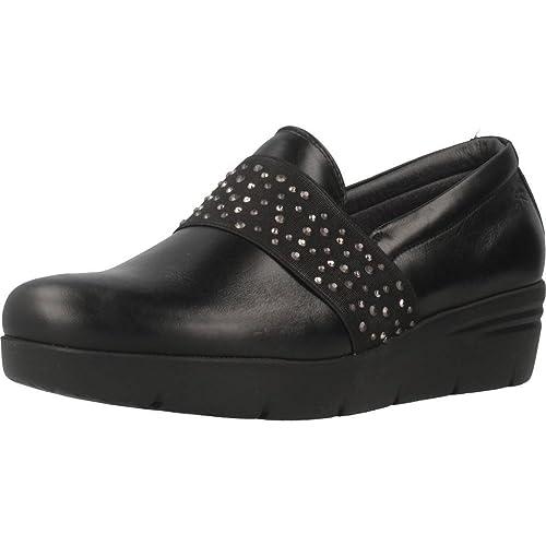Mocasines para Mujer, Color Negro, Marca FLUCHOS, Modelo Mocasines para Mujer FLUCHOS 9974 Negro: Amazon.es: Zapatos y complementos