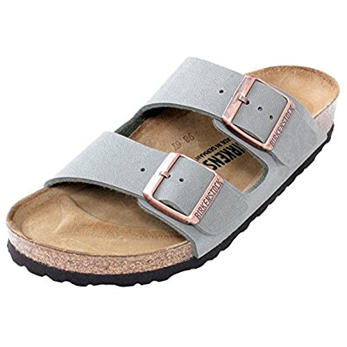 7b71c0346af608 Birkenstock Arizona 2-Strap Women s Sandals in Stone Birko-Flor ...