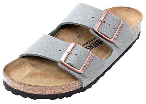 472a24daa9 Birkenstock Arizona 2-Strap Women s Sandals in Stone Birko-Flor ...