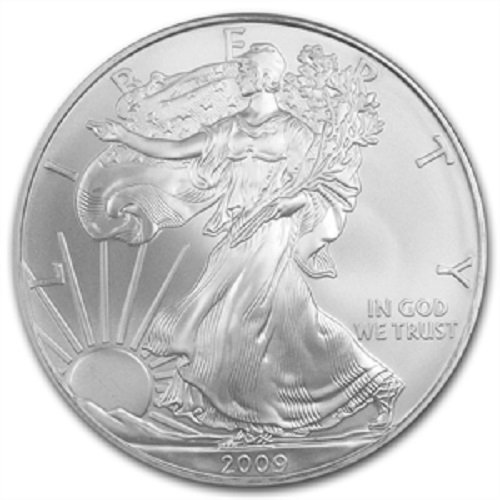 2009-1 Ounce American Silver Eagle Low Flat Rate Shipping .999 Fine Silver Dollar Uncirculated US Mint (Holders Coin Dollars Cases Half)