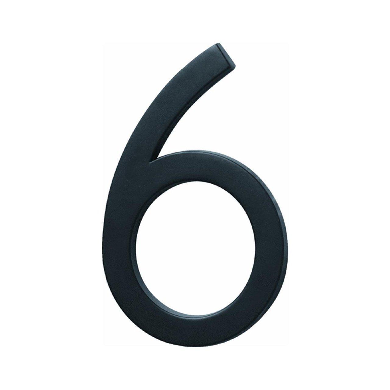 """Hy-Ko Floating Mount Number Black 6/"""""""
