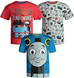 Thomas The Tank Engine Toddler Boys Short Sleeve T-Shirts 3 Pack Red Blue Grey 4T