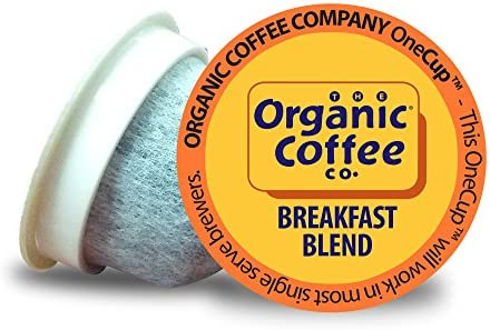 The Organic Coffee Co. OneCup, Breakfast Blend, Single Serve Coffee K-Cup Pods (12 Count), Keurig Compatible