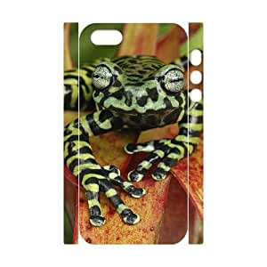HXYHTY Cell phone Protection Cover 3D Case Frog For Iphone 5,5S