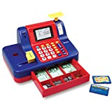 Learning Resources Pretend & Play Teaching Cash Register, 73 Pieces