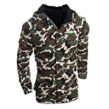 Hooded Coat For Men,Clearance Sale-Farjing Men's Autumn Winter Camouflage Wind Men Hooded Blouse Coat (M,Camouflage )