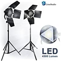 Limo2 Sets Premium Barn Door Led Accent Light 4500Lm / 5700K / 50W With Power Cable