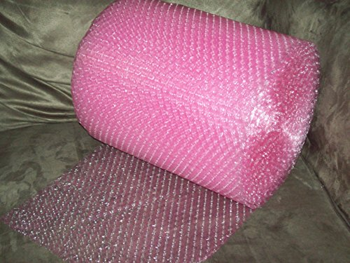 (50 Foot Pink Bubble Cushioning Wrap Roll, 3/16