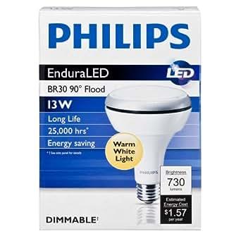 Philips 420554 13-watt Br30 Led Indoor Flood Light Bulb, Dimmable