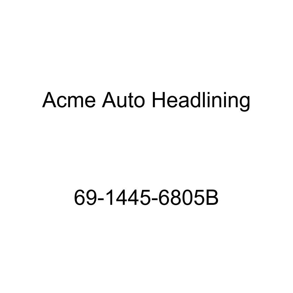 Acme Auto Headlining 69-1445-6805B Medium Blue Replacement Headliner 6 Bow 1969 Chevrolet Chevelle Malibu 4 Door Sedan