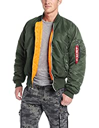 Alpha Industries Men\'s Ma-1 Flight Jacket,Sage Green,Medium