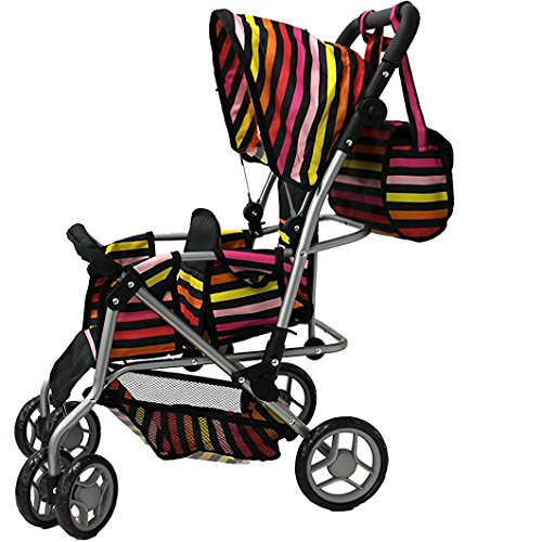 Doll Twin Stroller Baby Carriage - 3
