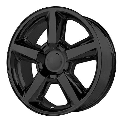 Replica 131GB Chevy LTZ 20x8.5 6x139.7 +31mm Gloss Black Wheel Rim - 2011 Chevy Tahoe Ltz