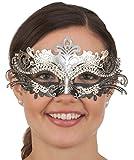 Jacobson Hat Company Mardi Gras Venetian Masquerade Filigree Metal Eye Mask Rhinestone Accessory