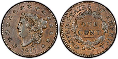 Coronet Head - 1817 Coronet Head Large Cent 1¢ Circulated