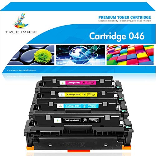 True Image Compatible Toner Cartridge Replacement for Canon 046 MF733Cdw Toner Cartridge 046 CRG-046 Canon Color ImageCLASS MF733Cdw MF731Cdw Canon MF731Cdw MF735Cdw LBP654Cdw MF733 Toner Ink Printer Canon Replacement Color Ink