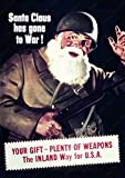 "WW2 Vintage Christmas Propaganda Poster reproduction - ""SANTA CLAUS HAS GONE TO WAR!"" (8.3x11.7, Unframed poster prints)"
