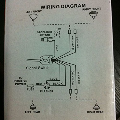51jH5TQy3uL amazon com 12v universal street hot rod chrome turn signal switch a5007 wiring diagram at bakdesigns.co