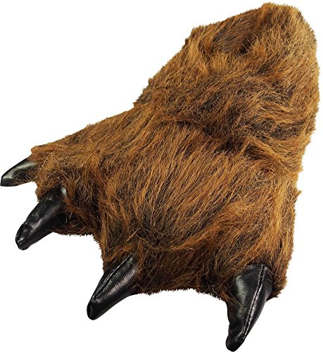 NORTY - Big Adults Big Foot Grizzly Bear Claw Slippers, Brown 39429-Large ()