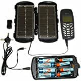 Solar 2 in 1 Folding Panel, Power supply, AA and AAA battery charger.