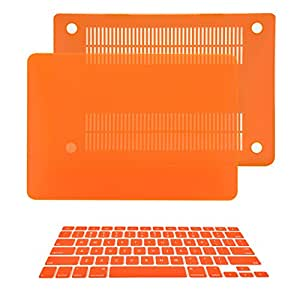 "TopCase 2 in 1 Rubberized ORANGE Hard Case Cover and Keyboard Cover for Macbook Pro 13-inch 13"" (A1278/with or without Thunderbolt) with TopCase Mouse Pad"