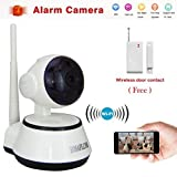 BESTOFFER4U 1MW15 Smart Wireless IP Network Camera with Door/window Sensor for video baby monitor Home Security Camera System Remote View Via Smartphone/tablet/pc