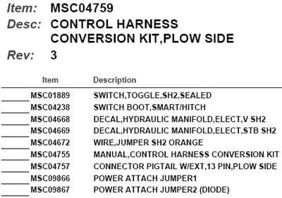 Amazon Com Boss Part Msc04759 Plow Side Control Harness Conversion Kit Automotive