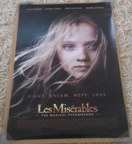 2 Double Sided Poster (LES MISERABLES MOVIE POSTER 2 Sided ORIGINAL FINAL 27x40 ANNE HATHAWAY)