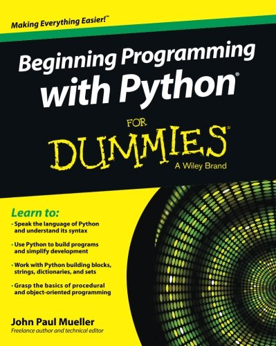 [FREE] Beginning Programming with Python For Dummies (For Dummies Series)<br />[R.A.R]