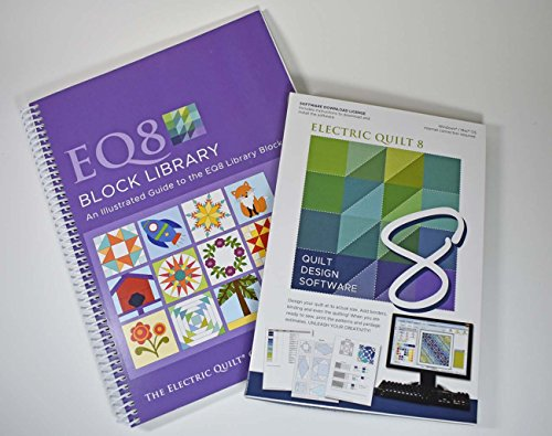 Electric 8 Quilt Software and EQ8 Block Library Book Bundle (Software Quilt Design)
