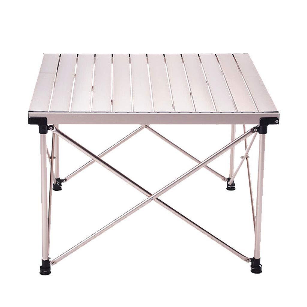 offerta speciale NJ Tavolo Pieghevole- Tavolo Pieghevole in Alluminio Portatile all'aperto, all'aperto, all'aperto, Tavolo da Picnic Tavolo da Barbecue a casa (colore   Champagne, Dimensioni   70x65x50cm)  sconto
