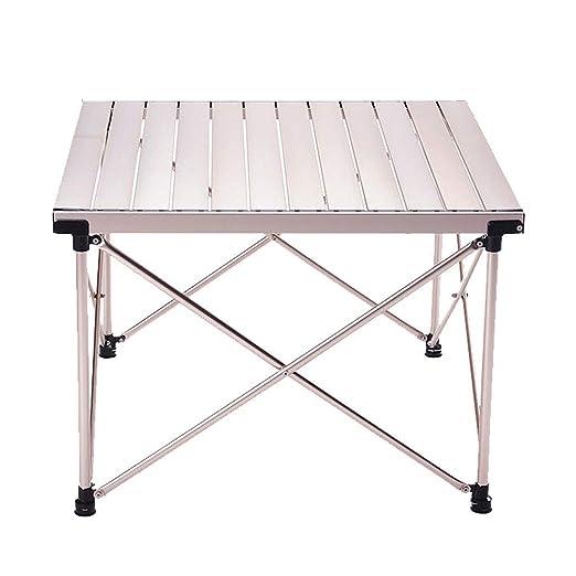 Mesa auxiliar Mesa portátil al aire libre Altura ajustable ...