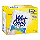 Wet Ones Antibacterial Hand Wipes Pocket Size Singles Citrus Scent 24 ct (Pack of 10)