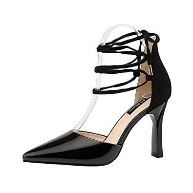 66469f615 GAOLIXIA Women s Shoes Spring Summer Color Stitching Cross Straps Heels  Sandals Stiletto HEE Platform Wedding Party