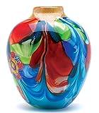 Gifts & Decor Floral Fantasia Beautiful Art Glass Vase