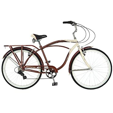 Schwinn Men's Sanctuary 7-Speed Cruiser Bicycle, Cream/Copper