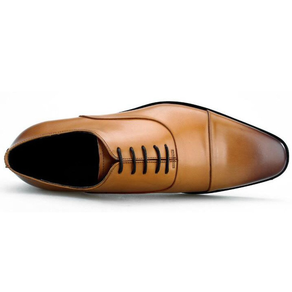Männer Echtes Leder Schuhe Oxford Brogue Business Kleid Schuhe Lace-up Kleid Schuhe Kleid Casual Hochzeit b44145