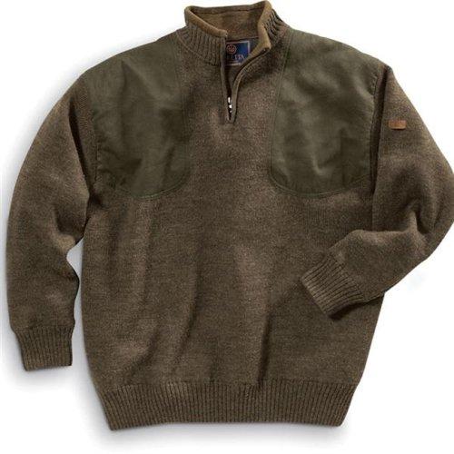 Beretta Men's Wind Barrier Short Zip Sweater, Large, Brown by Beretta